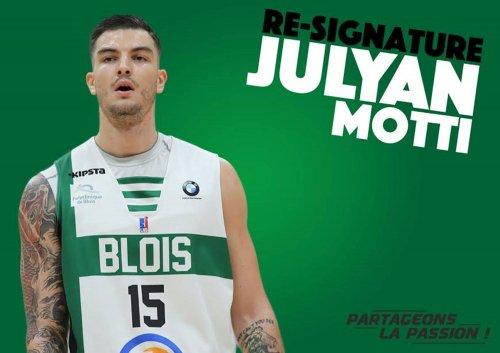 Julyan Motti resigne à l'ADA Blois Basket