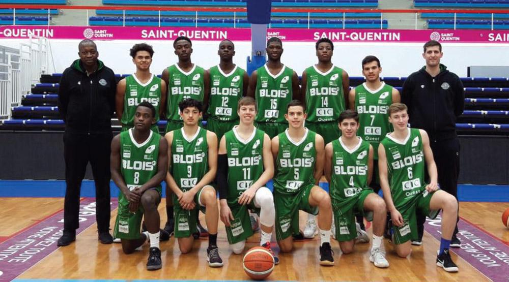 L'équipe U18 Elite de l'ADA Blois Basket